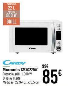 Oferta de Microondas CMXG22DW Candy  por 85€