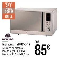 Oferta de Mandine Microondas MMG25D-17  por 85€