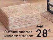 Oferta de Puff yute cuadrado  por 28€