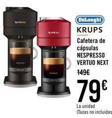Oferta de DëLonghi KRUPS Cafetera de cápsulas NESPRESSO BERTUO NEXT  por 79€
