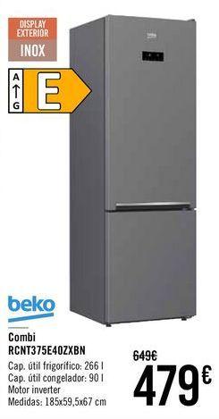 Oferta de Combi RCNT375E40ZXBN Beko  por 479€