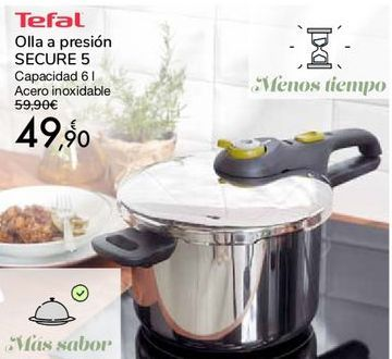 Oferta de Tefal Olla a presión SECURE 5 por 49,9€
