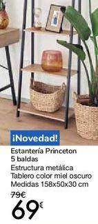 Oferta de Estantería Princeton 5 baldas por 69€