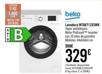 Oferta de Beko Lavadora WTA9712XSWR  por 329€