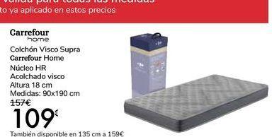 Oferta de Colchón Visco Supra Carrefour HOME por 109€