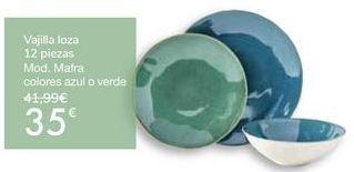 Oferta de Vajilla loza 12 piezas Mod. Mafra por 35€