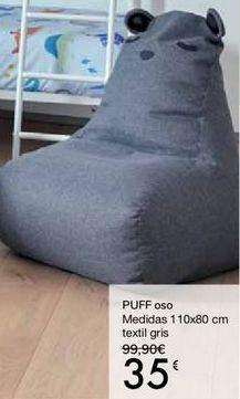 Oferta de PUFF oso por 35€