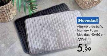 Oferta de Alfombra de baño Memory Foam por 5,99€