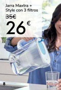 Oferta de Jarra Maxtra + Style con 3 filtros por 26€