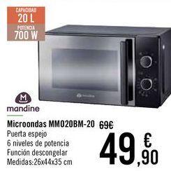 Oferta de Mandine Microondas MM020BM-20 por 49,9€