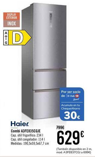 Oferta de Haier Combi A3FE835CGJE  por 629€