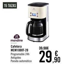 Oferta de Mandine Cafetera MCM1000T-20  por 29,9€