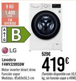 Oferta de LG Lavadora F4WV3209S0W  por 419€