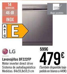 Oferta de LG Lavavajillas DF222FP  por 479€