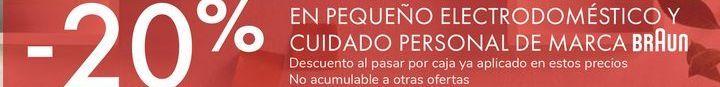 Oferta de EN PEQUEÑOS ELECTRODOMÉSTICOS Y CUIDADO PERSONAL DE MARCA BRAUN por