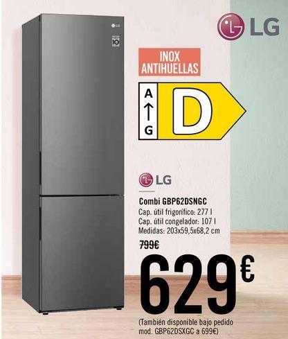 Oferta de LG Combi GBP62DSNGC  por 629€