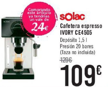 Oferta de Solac Cafetera espresso IVORY CE4505  por 109€