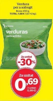 Oferta de Verduras congeladas por 0,69€