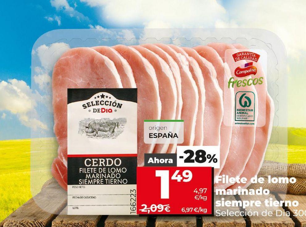 Oferta de Filetes de cerdo Dia por 1,49€