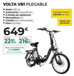Oferta de Bicicleta eléctrica por 649€