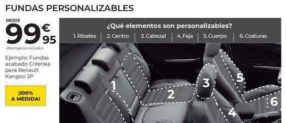 Oferta de Fundas para coche por 99,95€