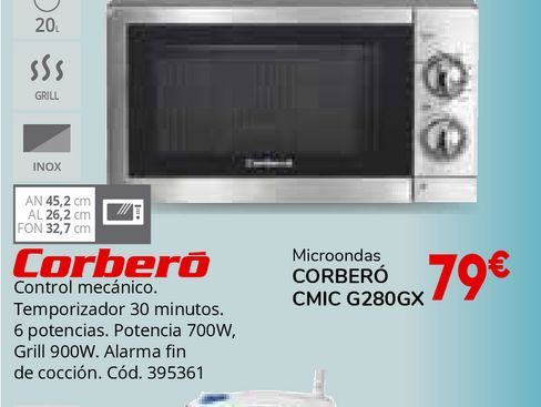 Oferta de Microondas Corberó por 79€
