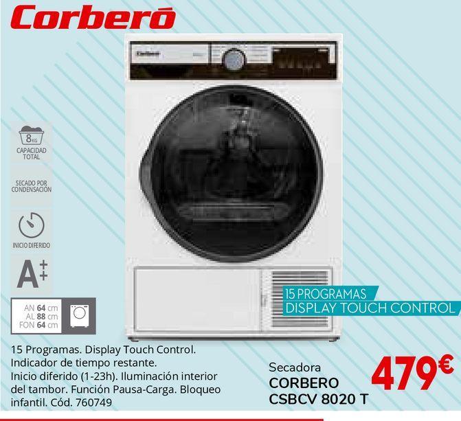 Oferta de Secadoras Corberó por 479€
