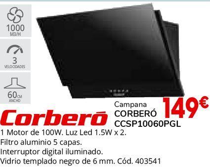 Oferta de Campanas extractoras Corberó por 149€
