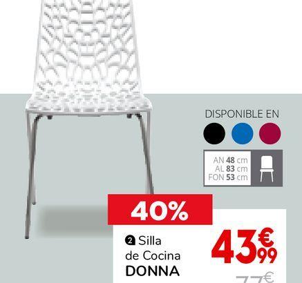 Oferta de Silla de cocina por 43,99€