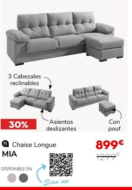 Oferta de Sofá reclinable por 899€