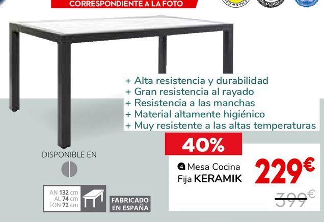 Oferta de Mesa de cocina por 229€