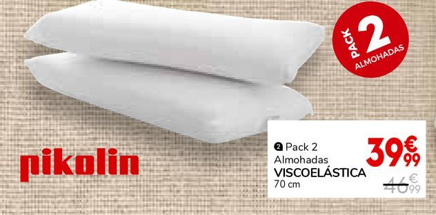 Oferta de Almohada viscoelástica Pikolin por 39,99€