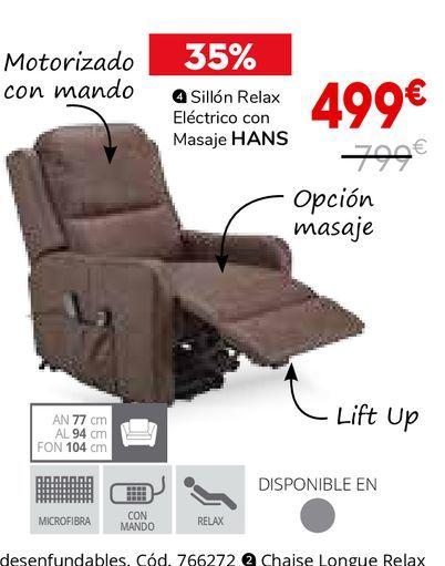 Oferta de Sillón relax por 499€