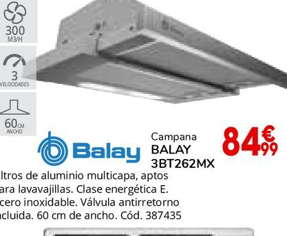 Oferta de Campana telescópica Balay por 84,99€