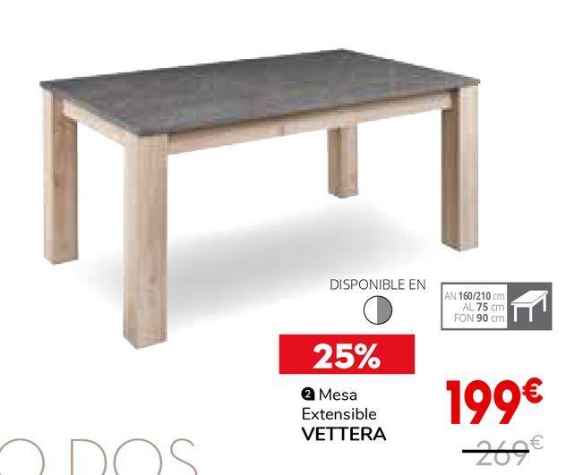 Oferta de Mesa extensible por 199€