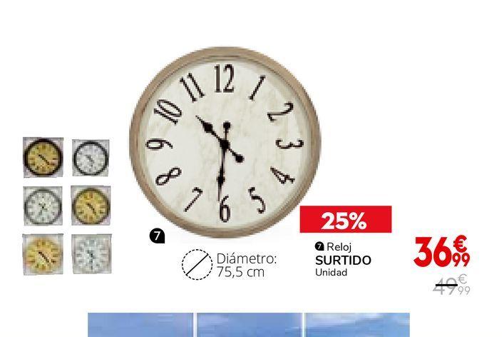 Oferta de Reloj de pared por 36,99€