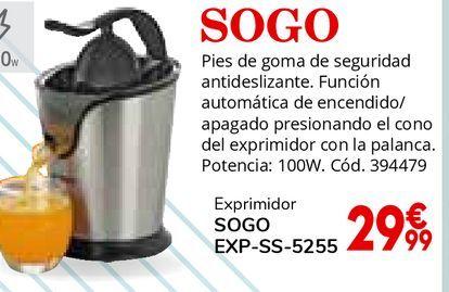 Oferta de Exprimidor Sogo por 29,99€