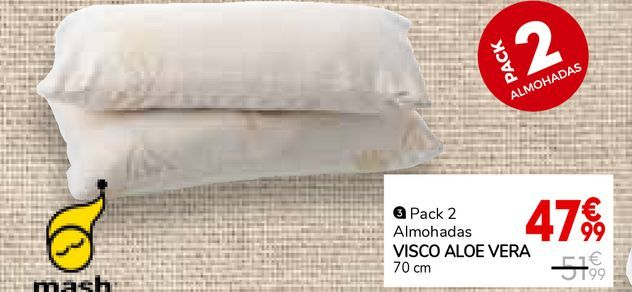 Oferta de Almohada viscoelástica por 47,99€