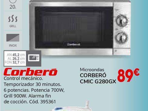 Oferta de Microondas Corberó por 89€