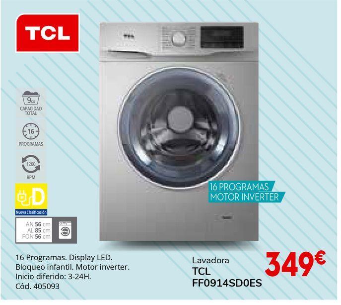 Oferta de Lavadoras TCL por 349€