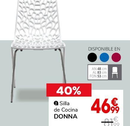 Oferta de Silla de cocina por 46,99€