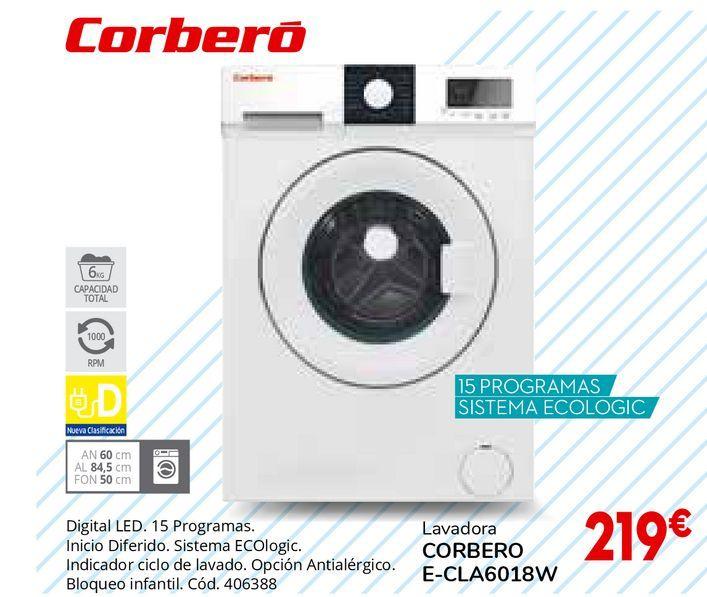 Oferta de Lavadoras Corberó por 219€