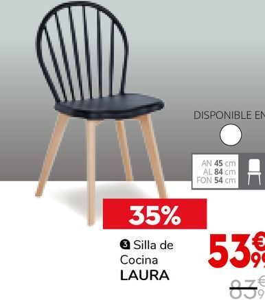 Oferta de Silla de cocina por 53,99€