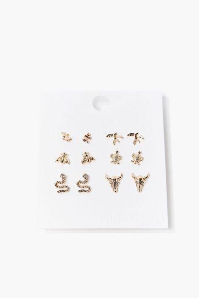 Oferta de Animal Stud Earring Set por 2,95€