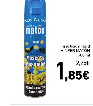 Oferta de Insecticida rapid VINFER MATÓN, 600 ml por 1,85€
