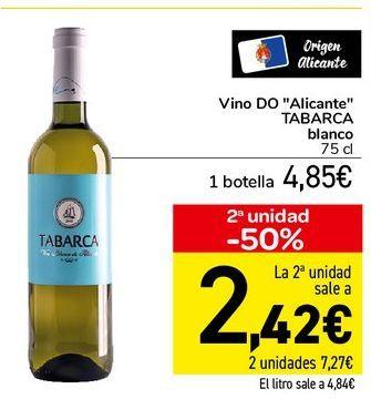 Oferta de Vino DO Alicante TABARCA blanco 75 cl por 4,85€