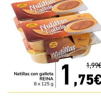 Oferta de Natillas con galleta reina 8 x 125 g por 1,75€