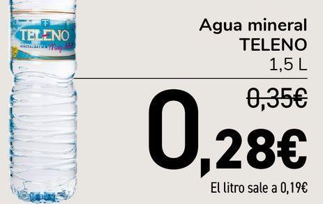 Oferta de Agua mineral TELENO 1.5 L por 0,28€
