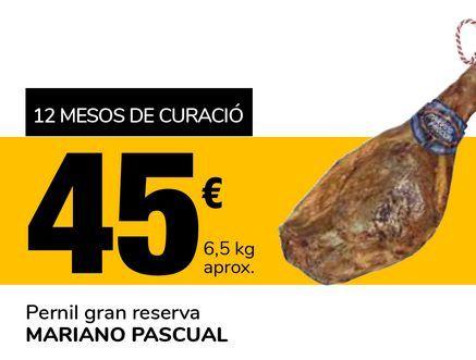 Oferta de Jamón gran reserva MARIANO PASCUAL por 45€