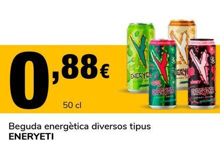 Oferta de Bebida energética varios tipos ENERYETI por 0,88€